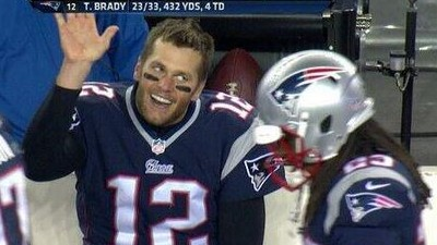 One might even say Tom Brady will get a high five two weeks in a row. But one might be getting ahead of himself.