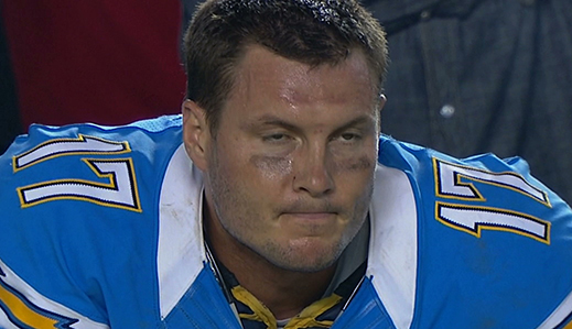 Philip Rivers trying to kill me with his mind. Hasn't worked before; won't work this time.