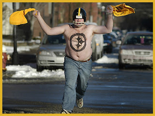 Pictured: Typical Steelers Fan.